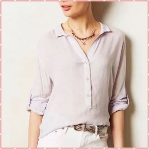 Cloth & Stone Purple Button Blouse Top Small EUC